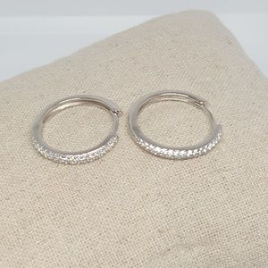 Sterling Silver Delicate Hoop Earrings